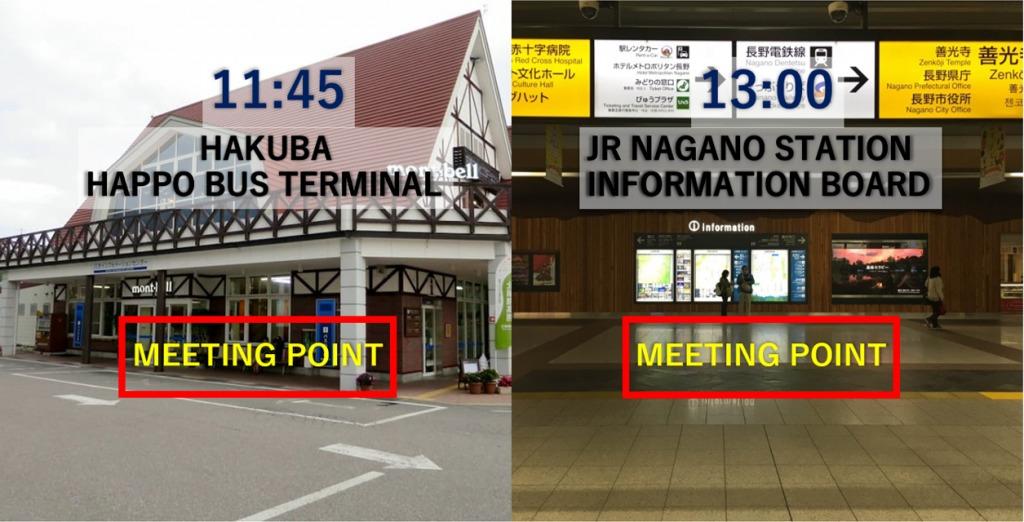 11:45 Pick-up at Hakuba Happo Bus Terminal