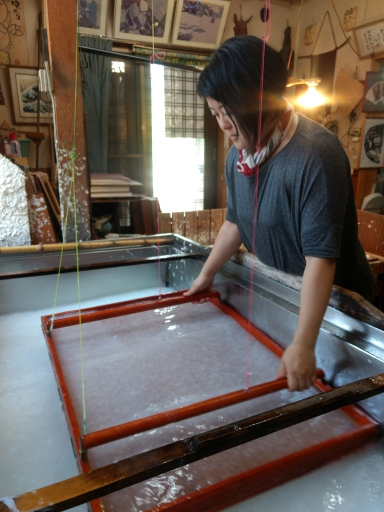 'WASHI' (JAPANESE PAPER) MAKING EXPEREINCE IN NAGANO CITY'